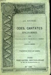 Nouvelle Bibliotheque Populaire N°185. Odes, Cantates Epigrammes - Couverture - Format classique