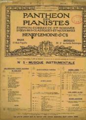 Pantheon Des Pianistes N°944 - Couverture - Format classique