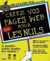 Creez Une Page Web Pour Les Nul - Couverture - Format classique