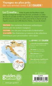 Geoguide ; Croatie - 4ème de couverture - Format classique