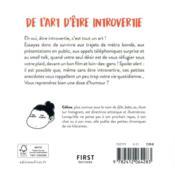 De l'art d'être introvertie - 4ème de couverture - Format classique