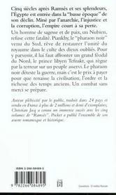 Le Pharaon Noir - 4ème de couverture - Format classique