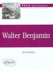 Walter Benjamin - Intérieur - Format classique