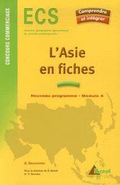 L'asie en fiches ; ecs ; concours commerciaux ; module 4 - Intérieur - Format classique