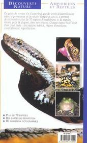 Amphibiens Et Reptiles - 4ème de couverture - Format classique