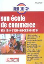 Bien Choisir Son Ecole De Commerce Et Sa Filiere D'Economie-Gestion A La Fac - Intérieur - Format classique