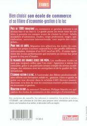 Bien Choisir Son Ecole De Commerce Et Sa Filiere D'Economie-Gestion A La Fac - 4ème de couverture - Format classique
