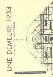 Une demeure 1934 ; architecte : Rob Mallet-Stevens - Intérieur - Format classique