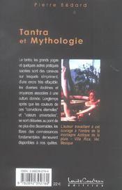 Tantra Et Mythologie - 4ème de couverture - Format classique