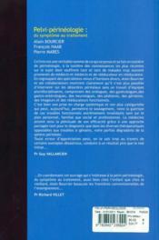 Pelvi-périnéologie : des symptomes au traitement- urologie et urogynécologie coloproctologie et gastropédiatrie, pathologie fonctionnelle - 4ème de couverture - Format classique