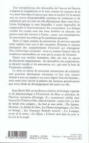 La Solidarite Chez Les Plantes. Les Animaux. Les Humains - 4ème de couverture - Format classique