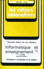 Les Cahiers Rationalistes N°351 - Informatique Et Enseignement (2) - Contribution A La Discussion Sur Le Nucleaire - Couverture - Format classique