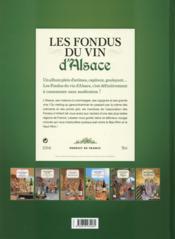 Les fondus du vin d'Alsace - 4ème de couverture - Format classique