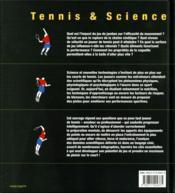 Tennis & science ; comment optimiser ses performance sur le court ? - 4ème de couverture - Format classique