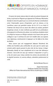 Partage du savoir ; mélanges offerts en hommage au Professeur Mamadou Kandji t.1 ; littérature - 4ème de couverture - Format classique