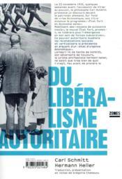 Du libéralisme autoritaire - Couverture - Format classique