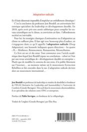 Adaptation radicale ; effondrement : comprendre, ressentir, agir - 4ème de couverture - Format classique