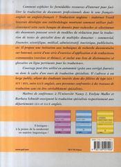 Traduction anglaise : maîtriser l'outil internet - 4ème de couverture - Format classique