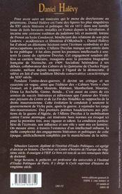 Daniel Halévy - 4ème de couverture - Format classique