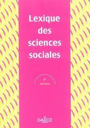 Lexique des sciences sociales - 8e ed. (8e édition) - Intérieur - Format classique