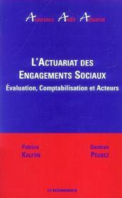 L'Actuariat Des Engagements Sociaux - Intérieur - Format classique