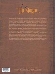 Le décalogue t.11 ; le XIe commandement - 4ème de couverture - Format classique