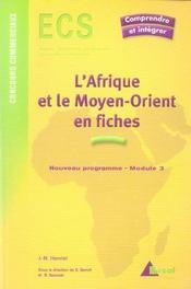 L'Afrique et le Moyen-Orient en fiches - Intérieur - Format classique