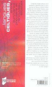 Les langues celtiques ; entre survivance populaire et renouveau élitiste - 4ème de couverture - Format classique