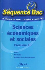 Sb sciences eco et sociales 1ere es - Intérieur - Format classique
