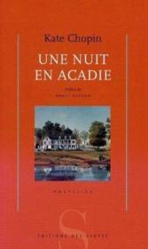Une nuit en Acadie - Couverture - Format classique