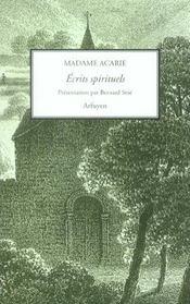 Ecrits Spirituels - Intérieur - Format classique