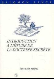 Introduction a l'etude de la doctrine secrete - Couverture - Format classique