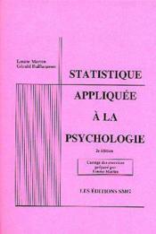 Statistique appliquee a la psychologie corrige des exercices 2emeedition - Couverture - Format classique