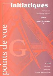 Points De Vue Initiatiques N.119 ; Dignité Et Droits De L'Homme - Intérieur - Format classique