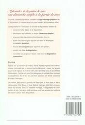 La dégustation et l'évaluation du vin - 4ème de couverture - Format classique