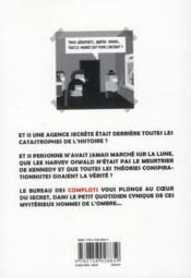 Le bureau des complots - 4ème de couverture - Format classique