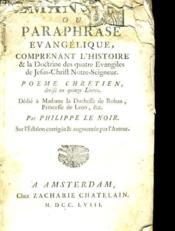 Emanuel Ou Paraphrase Evangelique. - Couverture - Format classique