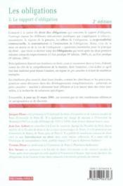 Les Obligations T.3 ; Le Rapport D'Obligation ; 2e Edition - Couverture - Format classique