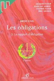 Les Obligations T.3 ; Le Rapport D'Obligation ; 2e Edition - Intérieur - Format classique