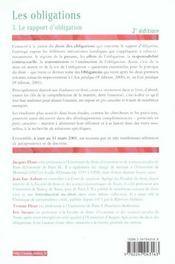 Les Obligations T.3 ; Le Rapport D'Obligation ; 2e Edition - 4ème de couverture - Format classique