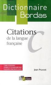 Dictionnaire Bordas des citations de la langue française - Intérieur - Format classique