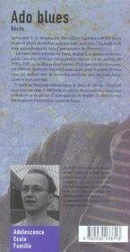 Ado blues - 4ème de couverture - Format classique