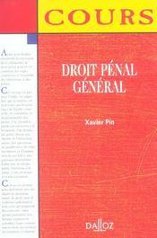 Droit Penal General - Intérieur - Format classique