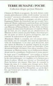 Minik, l'esquimau deracine - 4ème de couverture - Format classique