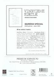 Revue Vingtieme Siecle N.71 ; Apprendre L'Histoire De L'Europe - 4ème de couverture - Format classique