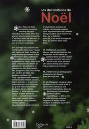 Les décorations de noël - 4ème de couverture - Format classique