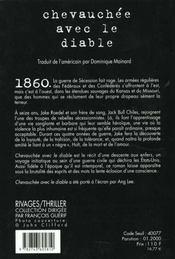 Chevauchee Avec Le Diable - 4ème de couverture - Format classique