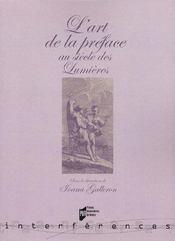 L'art de la préface au siècle des lumières - Intérieur - Format classique
