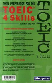 Total preparation for the TOEIC 4 skills - 4ème de couverture - Format classique