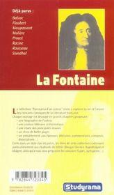 La Fontaine - 4ème de couverture - Format classique